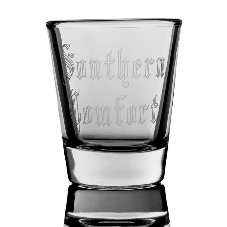 2oz Southern Comfort in the south Shot Glass