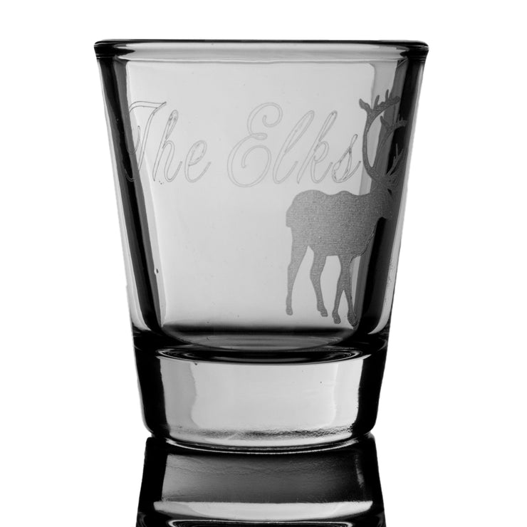 2oz The Elks Shot Glass