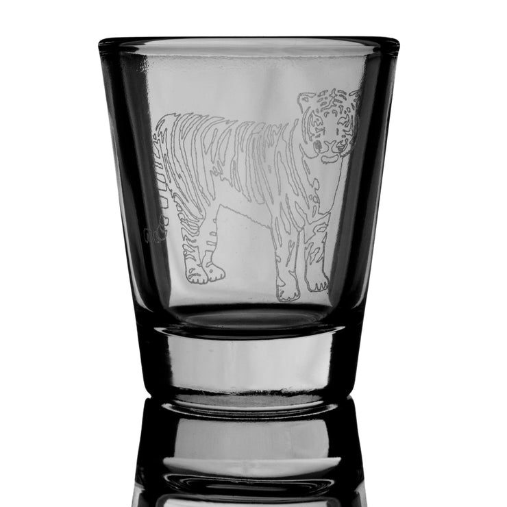 2oz Tiger Shot Glass - Wild Life