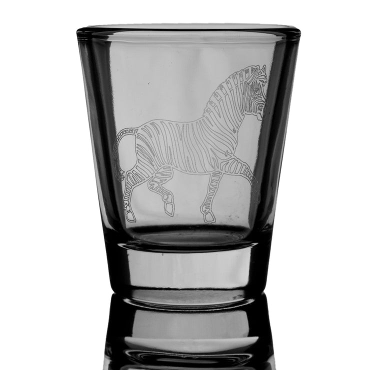 Zebra Shot Glass