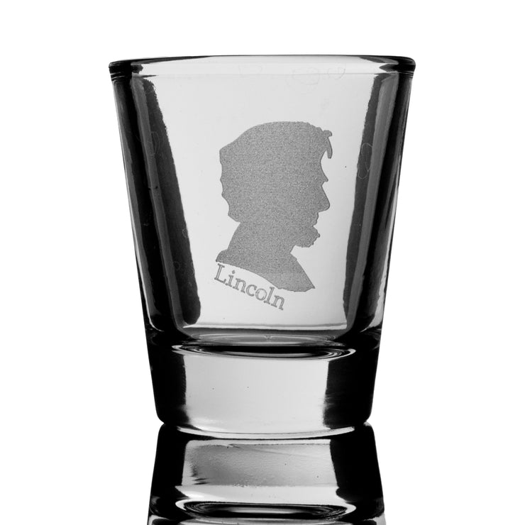 2oz Abe Lincoln Shot Glass