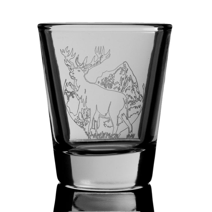 Elk Shot Glass - Wild Life