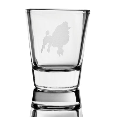 2oz Poodle dog puppy Shot Glass