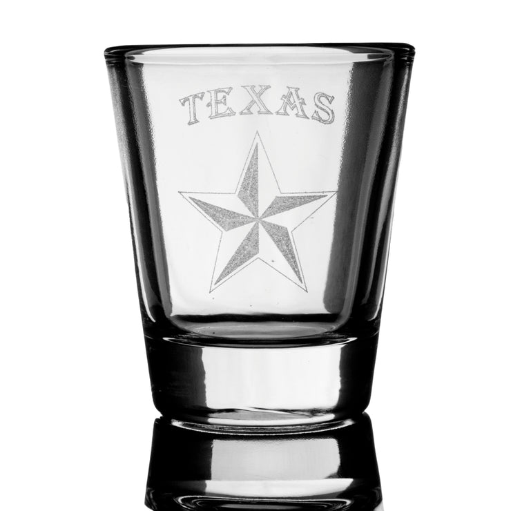 2oz Texas Star Shot Glass
