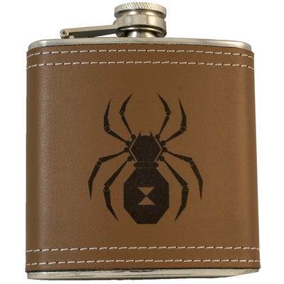 6oz Black Widow Flask KLB