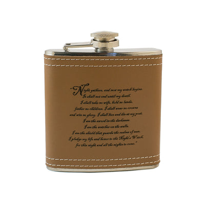 6oz Night Gathers Leather Flask KLB L1