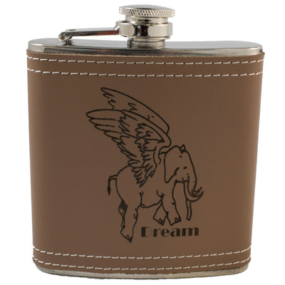 6oz Flying Elephant Flask Klb