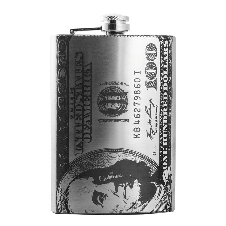8oz 100 Dollar Bill Flask L1