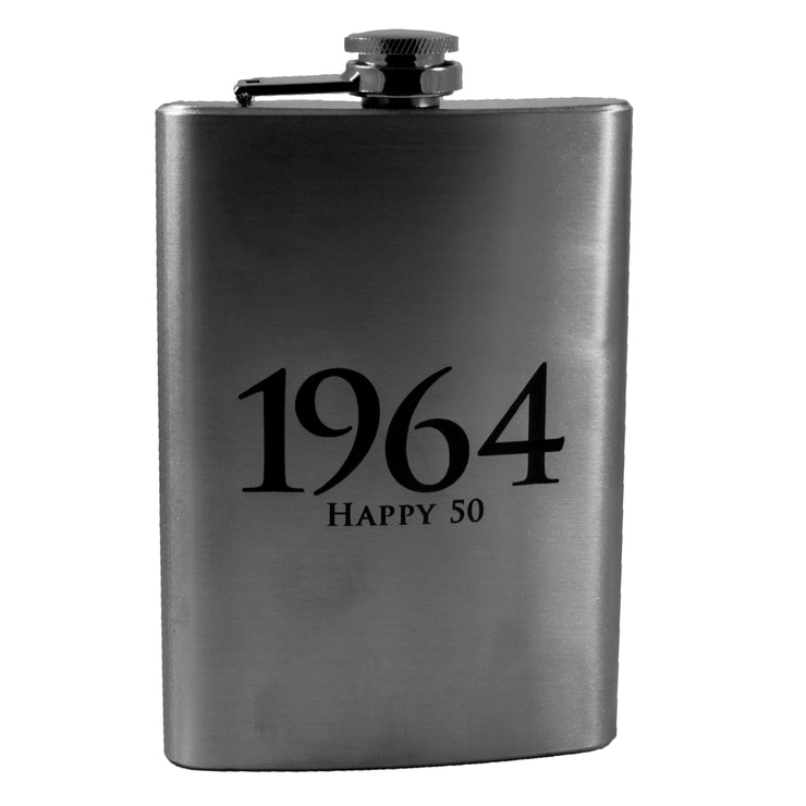 8oz 1964 Happy 50 Flask L1