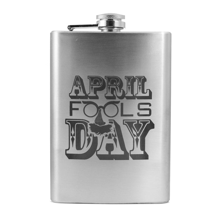 8oz April Fools Day Flask L1