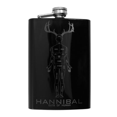 8oz BLACK Hannibal Flask L1