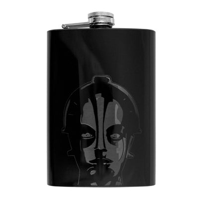 8oz BLACK Metropolis Flask L1