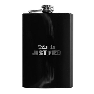 8oz BLACK This is Justified Flask L1
