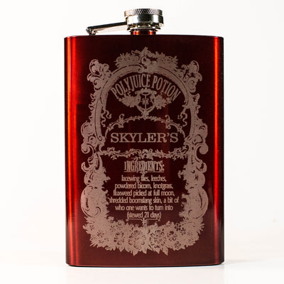 8oz CUSTOMIZED Polyjuice Potion Flask L1