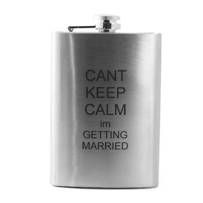 8oz Can't Keep Calm I'm Getting Married Flask L1