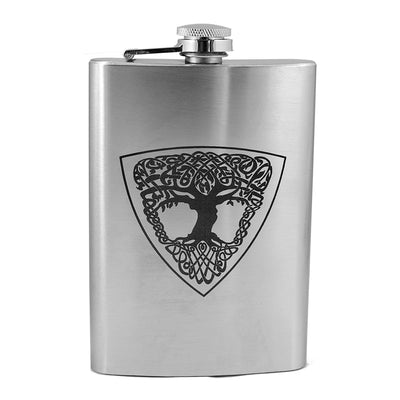 8oz Celtic Tree of Life Flask L1