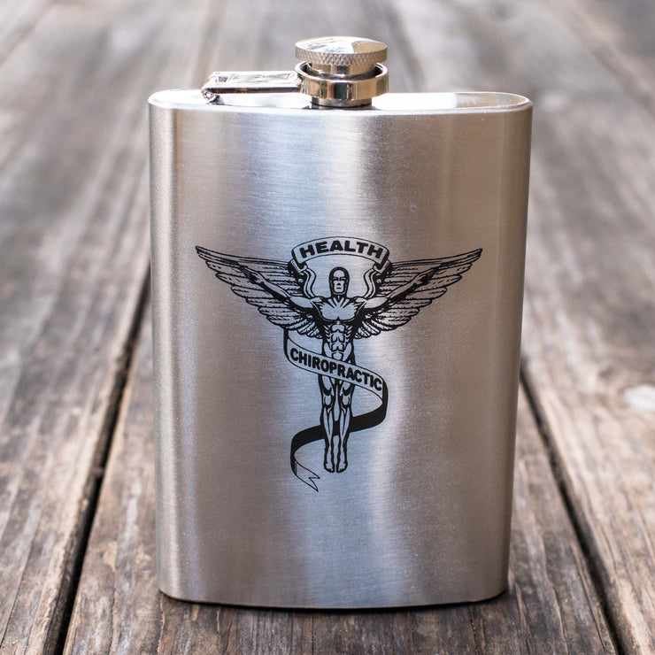 8oz Chiropractic Flask L1