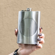 8oz Circle Triangle Design Flask L1