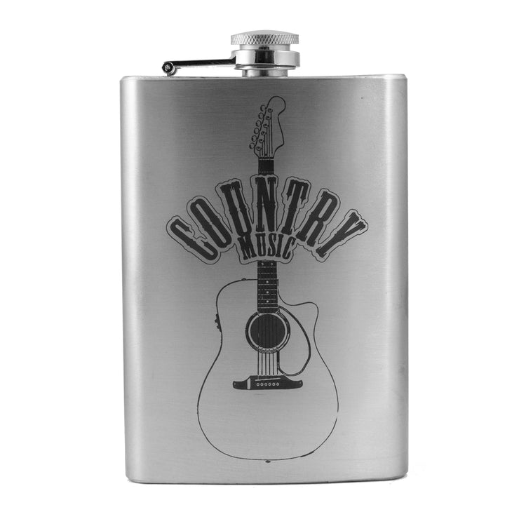 8oz Country Music Flask L1 Guitar Novelty