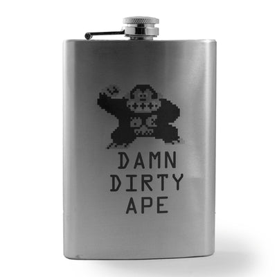 8oz Damn Dirty Ape Flask L1