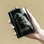 8oz Do or Do Not Black Flask L1