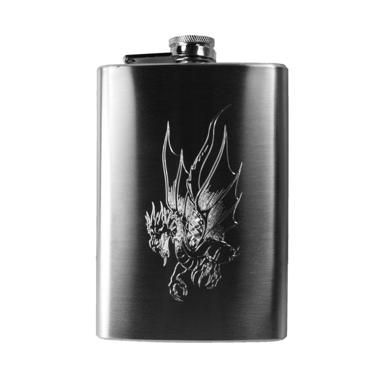 8oz Dragon Hip Flask Dragon Five R1