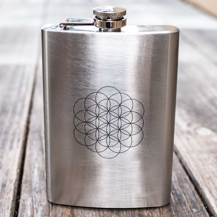 8oz Flower of Life Flask L1