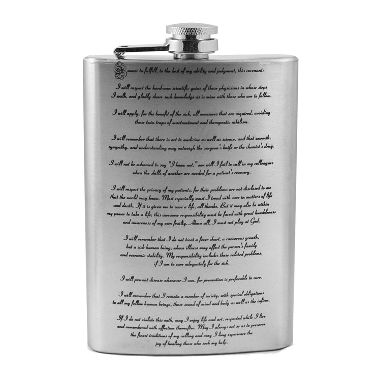 8oz Hippocratic Oath Flask L1