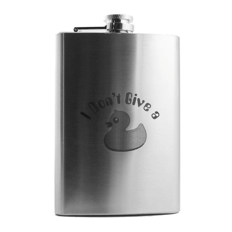 8oz I Don't Give a Duck Flask L1