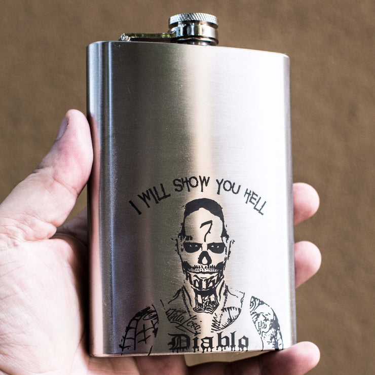 8oz I Will Show You Hell Flask L1