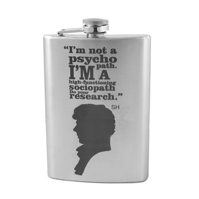 8oz Im Not a Psycho Flask Laser Engraved L1