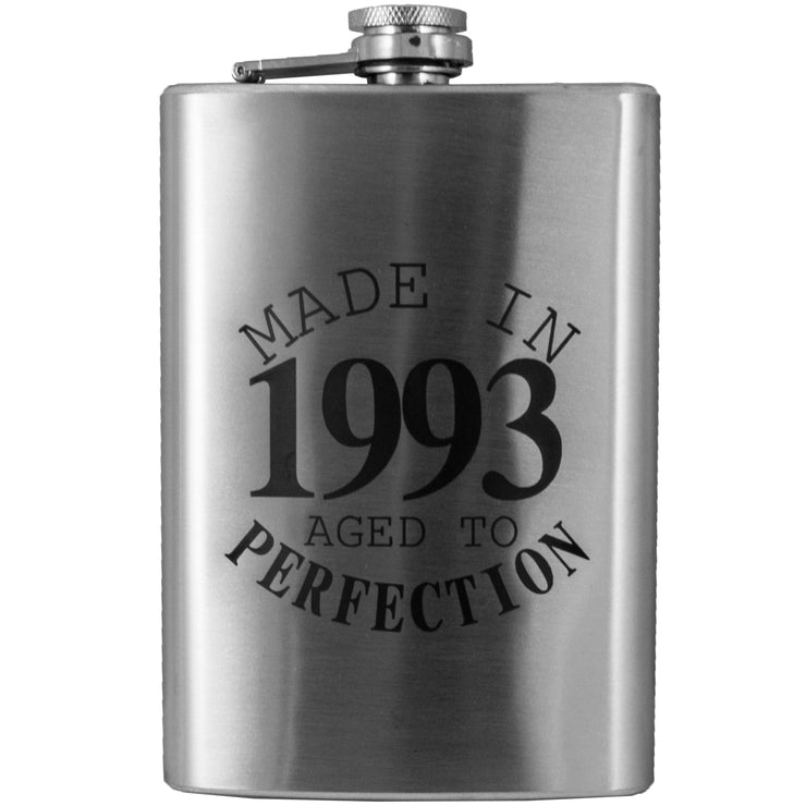 8oz Made in 1993 Aged to Perfection Flask L1