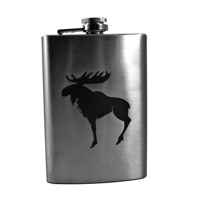 8oz Moose Flask L1