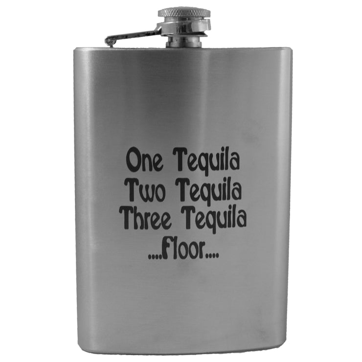 8oz One Tequila Two Tequila Three Tequila Floor flask L1