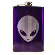 8oz PURPLE Alien Flask L1