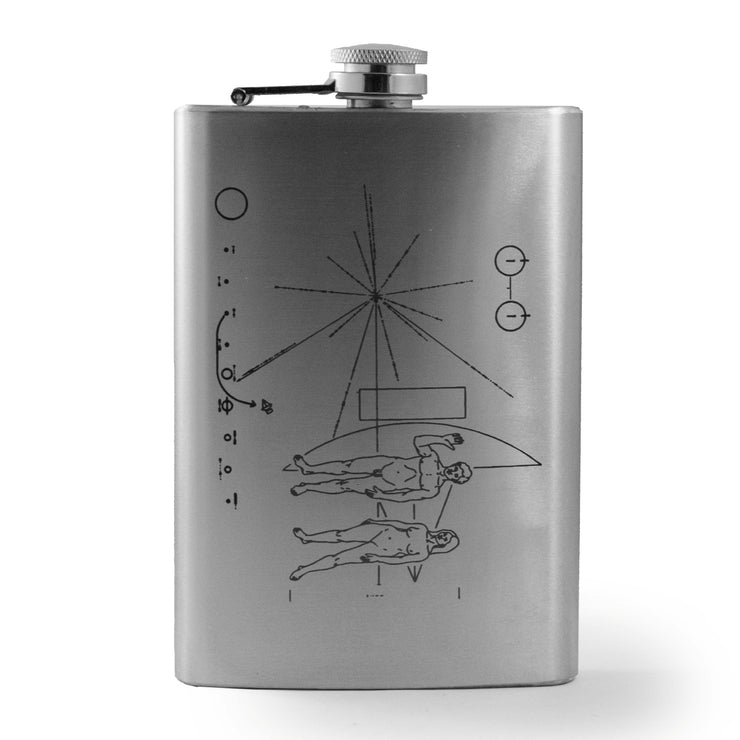 8oz Pioneer Message Flask L1