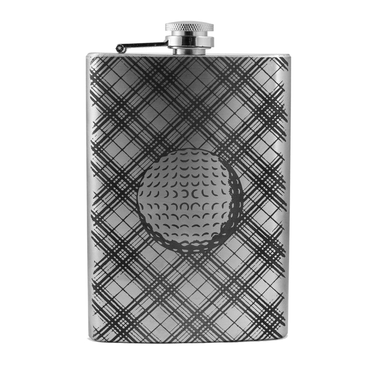 8oz Plaid Golf Flask L1