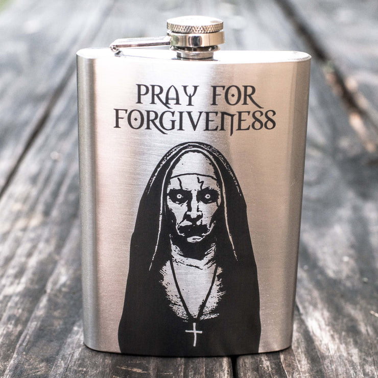 8oz Pray for Forgiveness Flask L1