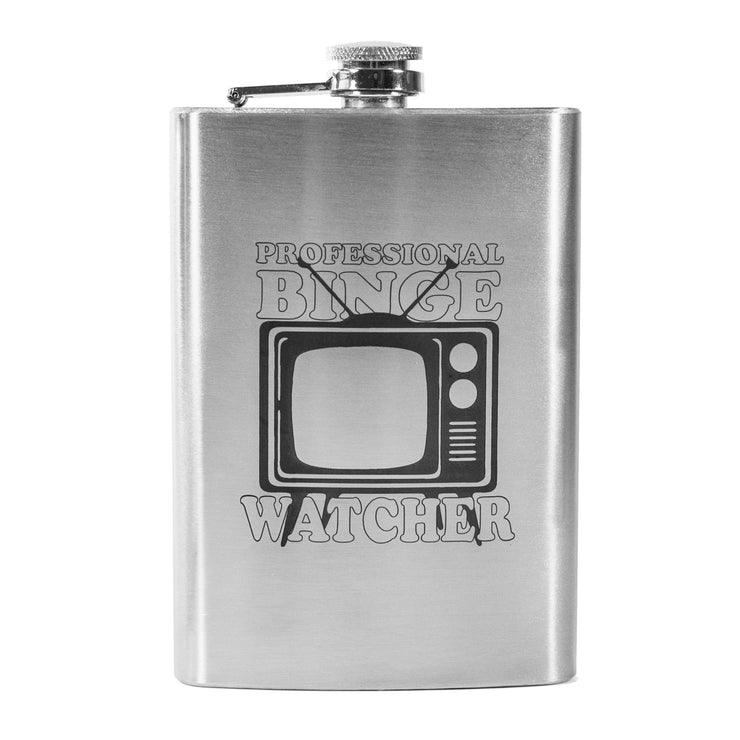 8oz Professional Binge Watcher Flask L1