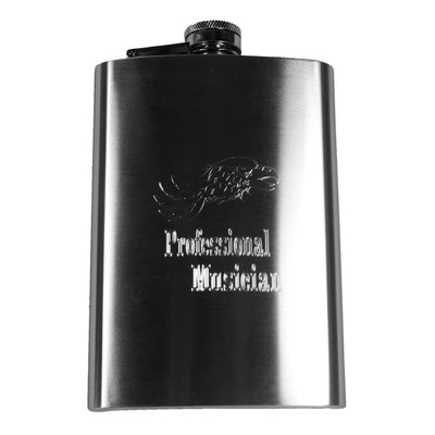8oz Professional Musician Hip Flask With American Eagle R1