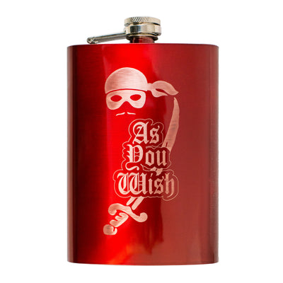 8oz RED As You Wish Flask L1