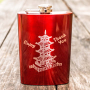 8oz RED Chinese Take-Out Flask L1