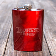8oz RED Stranger Drinks Flask L1