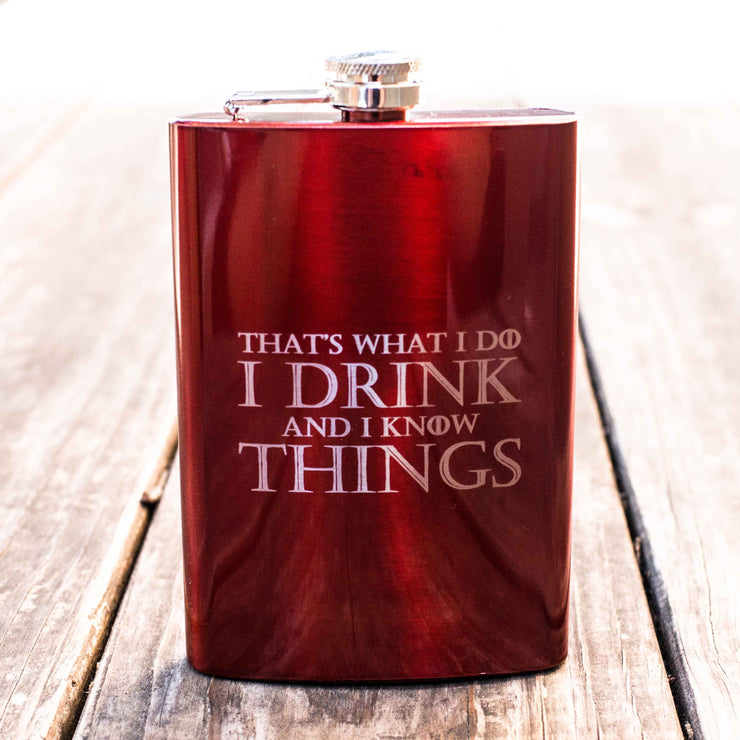 8oz RED That's What I Do Flask L1