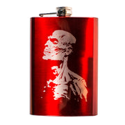 8oz RED Zombie Flask L1