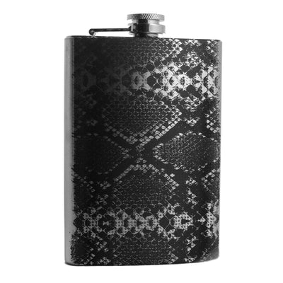 8oz Rattlesnake Stainless Steel flask L1