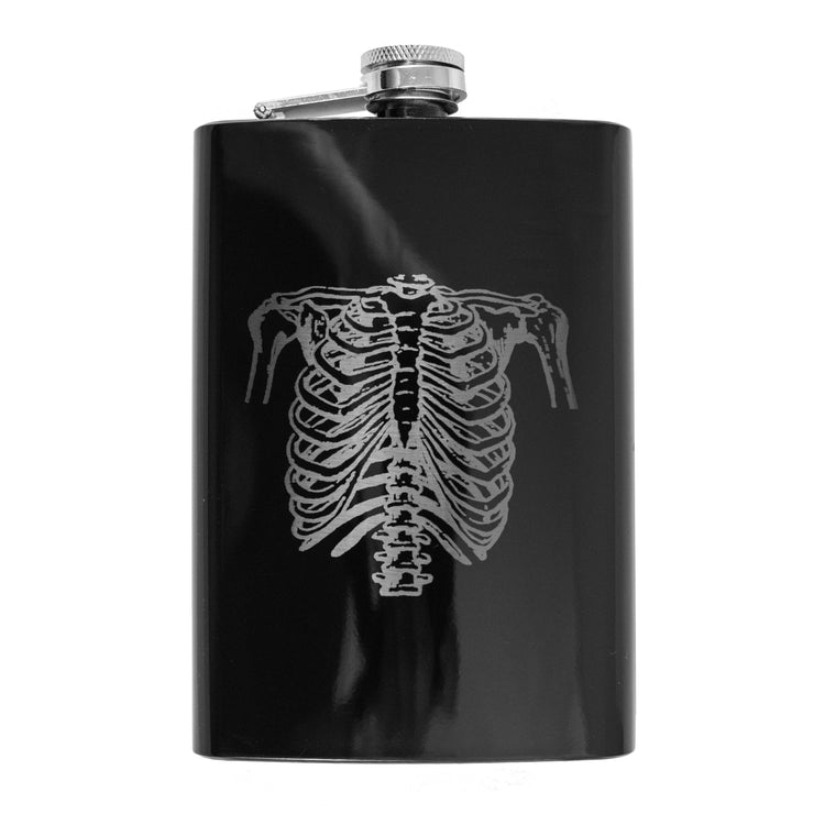 8oz Ribs - Black Flask L1