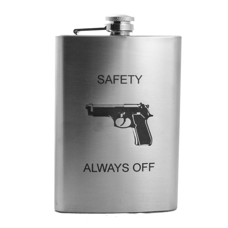 8oz Safety Always Off Flask L1