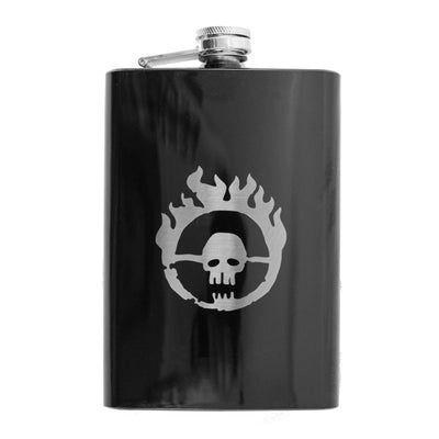 8oz Skull Branding Black Flask L1