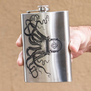 8oz Steampunk Octopus Flask L1